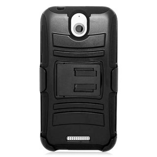 HTC Desire 510 Black Skin Hybrid Case with Holster