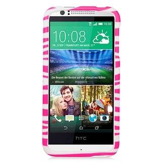 HTC Desire 510 Pink Rubber Zebra Case