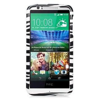 HTC Desire 510 Glossy Zebra Black and White Cover