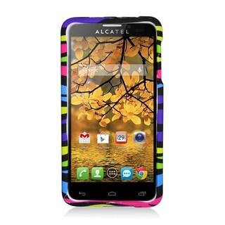 Alcatel One Touch Fierce Rainbow Zebra Rubber Cover