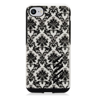 Black and White TPU and Polycarbonate Case for Apple iPhone 7