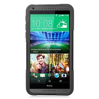 HTC Desire 816 Black TPU Hybrid Case with Stand