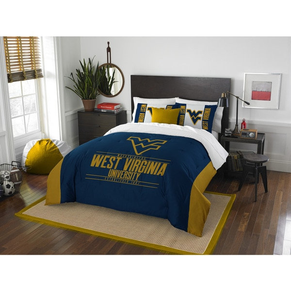 The Northwest Company West Virginia Mountaineers Multicolored Polyester Full/Queen 3-piece Comforter Set