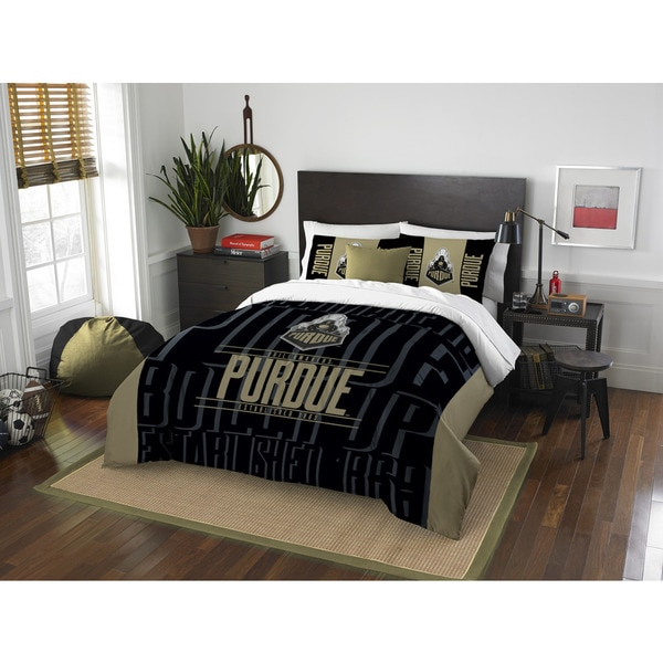 The Northwest Company COL 849 Purdue Modern Take Full/ Queen 3-piece Comforter Set