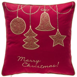 Gold Ornaments Throw Pillow
