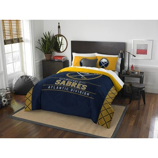 The Northwest Company NHL 849 Sabres Draft Full/Queen 3-piece Comforter Set