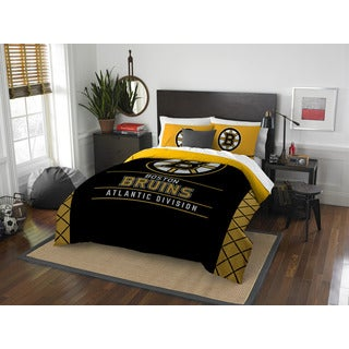 The Northwest Company NHL Boston Bruins Draft Full/Queen 3-piece Comforter Set