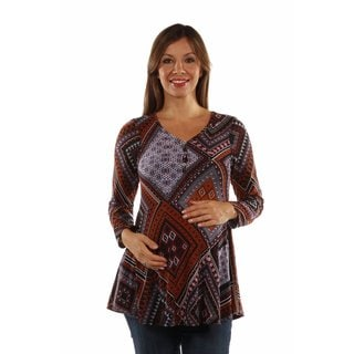 Seductive Patterned Maternity Top