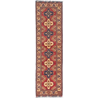 ecarpetgallery  Hand-Knotted Finest Kargahi Red  Wool Rug (2'10 x 9'11)