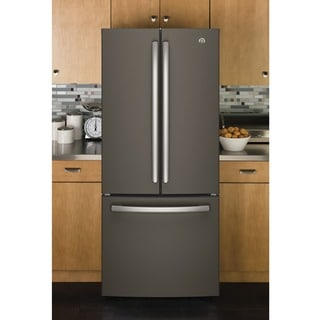 GE Series Energy Star 20.8 cu.ft. French Door Grey Refrigerator