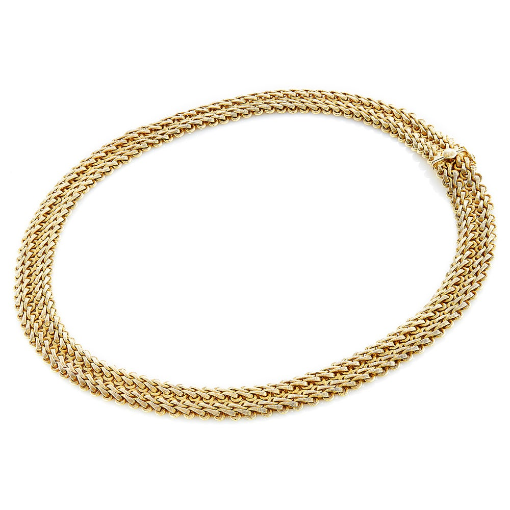 18k Yellow Gold 1960's Mesh Necklace by Buccellati (Estate Jewelry) -  Overstock
