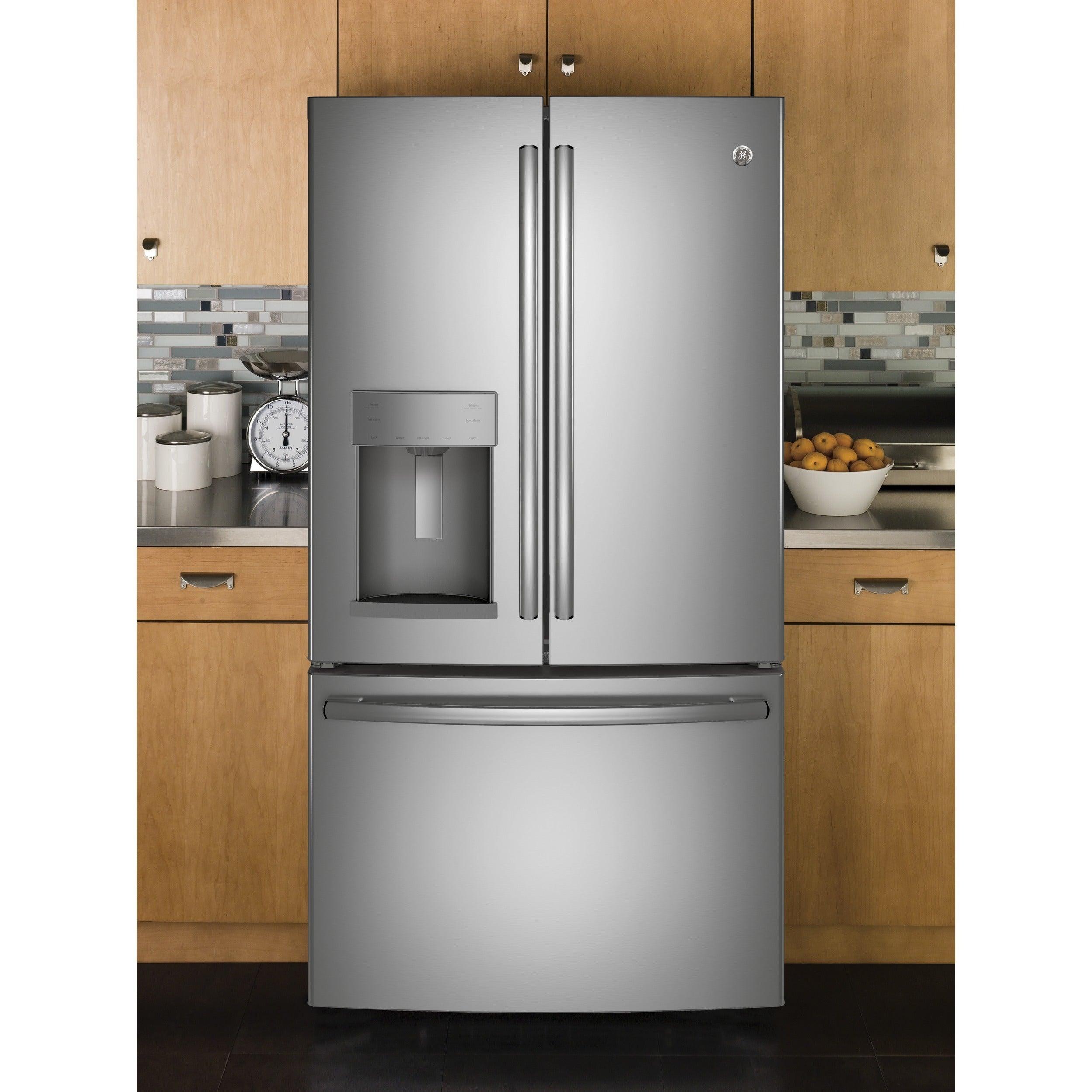 GE Appliances Energy Star 27.8 Cubic Foot French Door Ref...