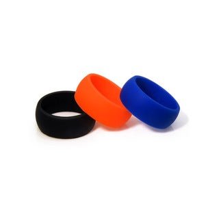 Eternally Haute 9mm Silicone Wedding Bands (Set of 3)