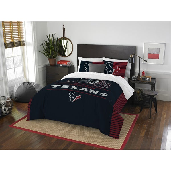 The Northwest Co Nfl Houston Texans Draft Full Queen 3 Piece Comforter Set On Free Shipping Today 13260784