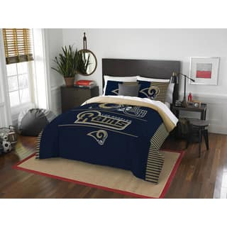 The Northwest Co NFL Los Angeles Rams Draft Blue and Tan Polyester Full/Queen 3-piece Comforter Set|https://ak1.ostkcdn.com/images/products/13260786/P19973142.jpg?impolicy=medium