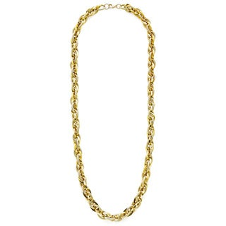 18k Yellow Gold Double Link Rolo Chain Necklace
