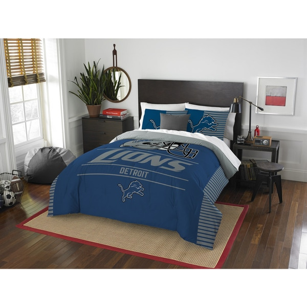 The Northwest Company NFL Detroit Lions Draft Full/Queen 3-piece Comforter Set