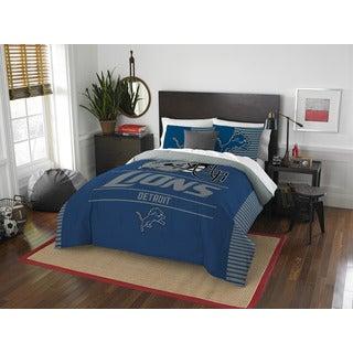 NFL 849 Lions Draft Full/Queen 3-piece Comforter Set