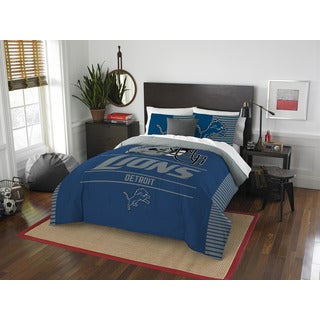 The Northwest Company NFL Detroit Lions Draft Full/Queen 3-piece Comforter Set