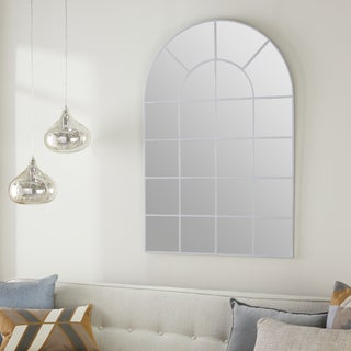 ABBYSON LIVING Silver-framed Glass Spectrum Wall Mirror