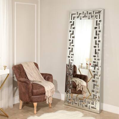 Silver Leaning Mirrors Shop Online At Overstock
