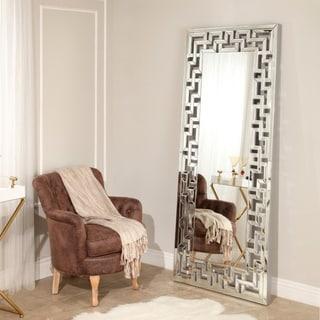 Tory Leaner Modern Floor Mirror - Silver By Abbyson