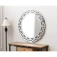Abbyson Tiffany Round Wall Mirror