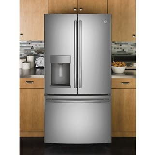 GE Appliances Energy Star 27.8 Cubic Foot French Door Refrigerator|https://ak1.ostkcdn.com/images/products/13260809/P19973175.jpg?impolicy=medium