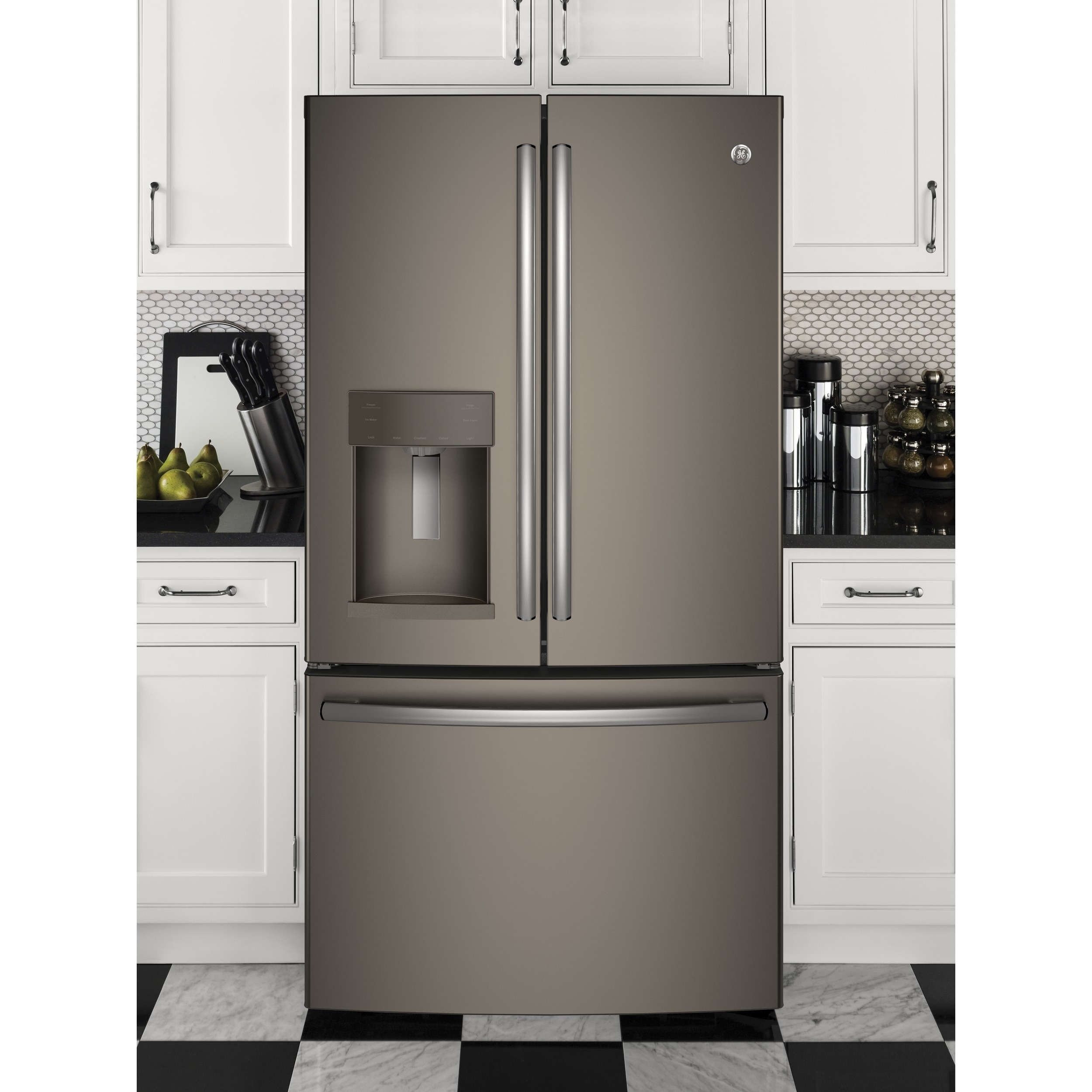 GE Appliances Energy Star 27.8 Cubic Foot French Door Refrigerator slate