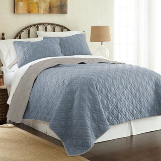 Amraupur Overseas 3-Piece Lattice Reversible Coverlet Set