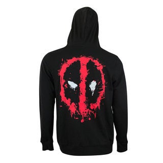 Men's Deadpool Black Zip-up Hoodie