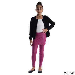Girls' Shiny Metallic Elastic Skirted Leggings (More options available)
