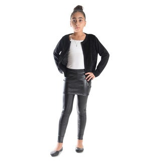 Girls' Shiny Metallic Elastic Skirted Leggings