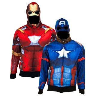 Captain America Iron Man Identity Crisis Polyester Reversible Hoodie