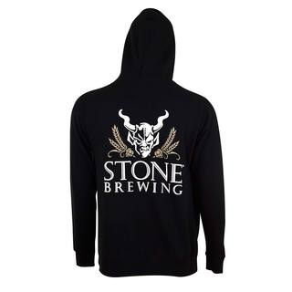 Stone Brewing Men's 4.0 Black Polyester Zip Hoodie Pullover