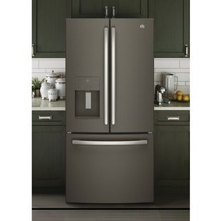 GE Series Energy Star 23.8 Cubic Foot French Door Refrigerator