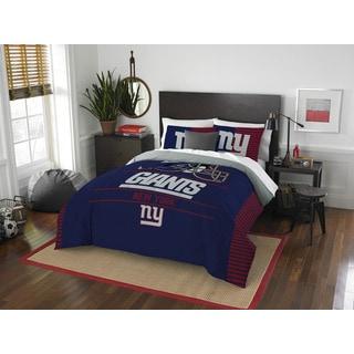 NFL 849 NY Giants Draft Full/ Queen Comforter Set