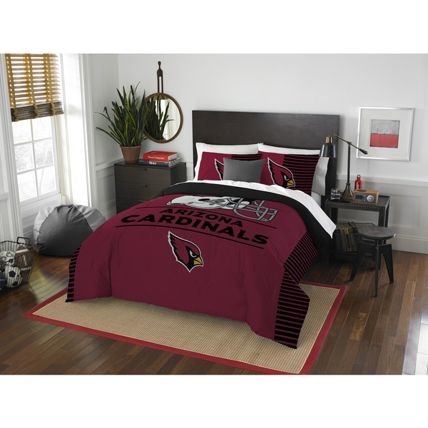 The Northwest Co NFL Arizona Cardinals Draft Full/Queen 3-piece Comforter Set