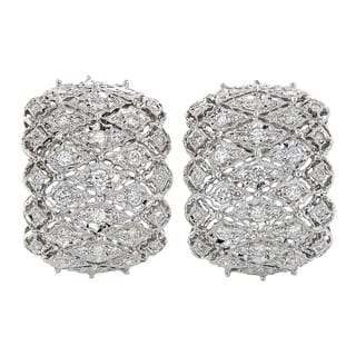 18k White Gold 2ct TDW Diamond Filigree Estate Earrings (H-I, SI1-SI2)|https://ak1.ostkcdn.com/images/products/13260898/P19973229.jpg?impolicy=medium
