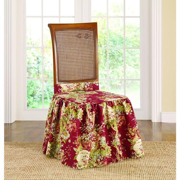 Amazing Shop Sure Fit Waverly Ballad Bouquet Dining Room Chair Inzonedesignstudio Interior Chair Design Inzonedesignstudiocom