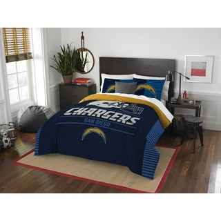 The Northwest Company NFL 849 Chargers Draft Full/Queen 3-piece Comforter Set