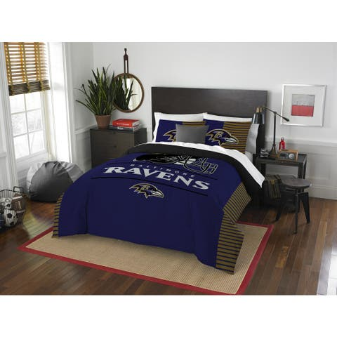 The Northwest Company NFL Baltimore Ravens Draft Full/Queen 3-piece Comforter Set