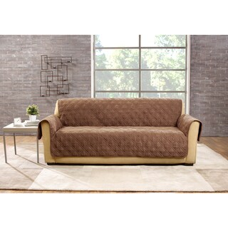 Sure Fit Deluxe Non-Slip Waterproof Sofa Furniture Protector (Option: Brown)