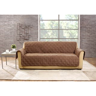 Sure Fit Deluxe Non Slip Waterproof Sofa Furniture Protector. Slipcovers   Furniture Covers For Less   Overstock com