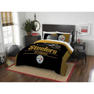 The Northwest Co NFL Pittsburgh Steelers Draft Full/Queen 3-piece Comforter Set|https://ak1.ostkcdn.com/images/products/13260985/P19973309.jpg?impolicy=medium