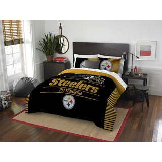 The Northwest Company NFL Pittsburgh Steelers Draft Full/Queen 3-piece Comforter Set