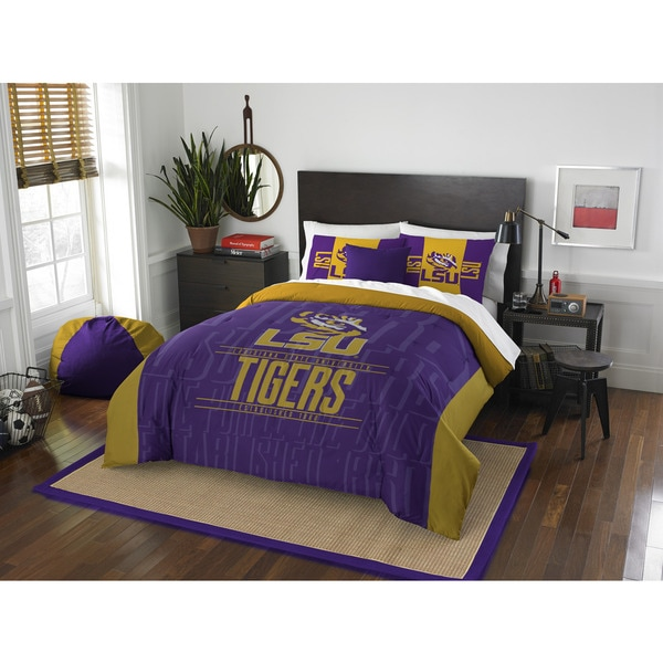 The Northwest Company COL LSU Modern Take Full Queen 40piece Comforter Set Extraordinary Lsu Bedroom Style Painting