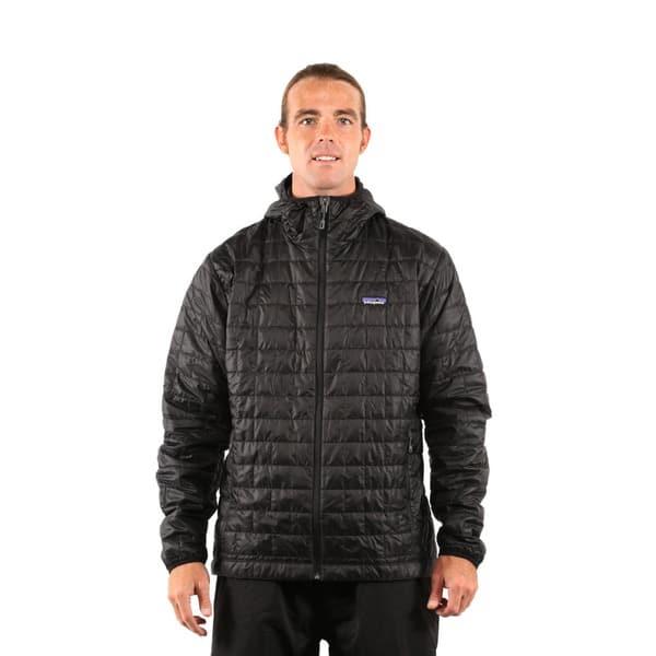 Shop Black Friday Deals On Patagonia Men S Black Nano Puff Hoody Jacket Overstock 13261006