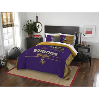 NFL Minnesota Vikings Draft Full/Queen 3-piece Comforter Set