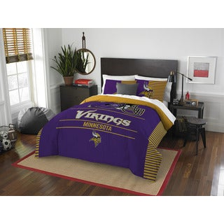 NFL 849 Vikings Draft Full/Queen 3-piece Comforter Set